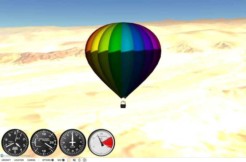 horkovzdušný balón - gefs letecký simulátor
