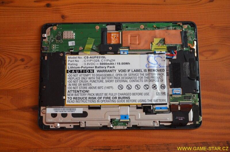 Jak vyměnit baterii v tabletu Asus Transformer Pad TF103C 8