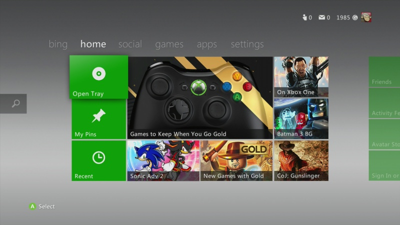 xbox 360 update - aktualizace software 5