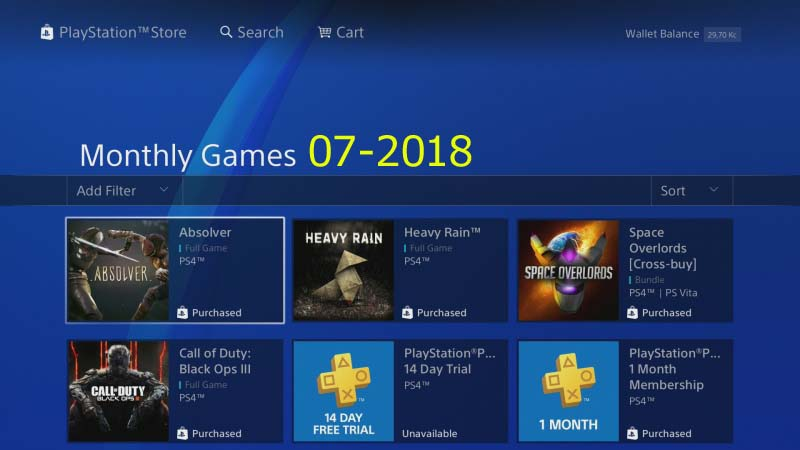 ps plus monthly games 07 / 2018