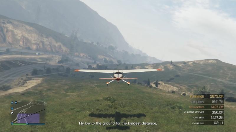 GTA ONLINE: Létání co nejníž u země (PS4)