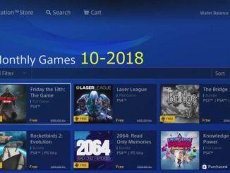 ps4 monthly games 10 / 2018