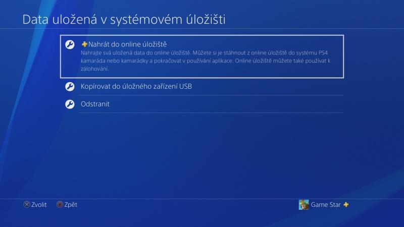 PS4 záloha dat 07