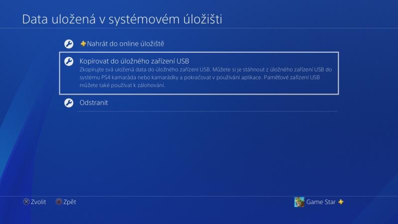 PS4 záloha dat 08