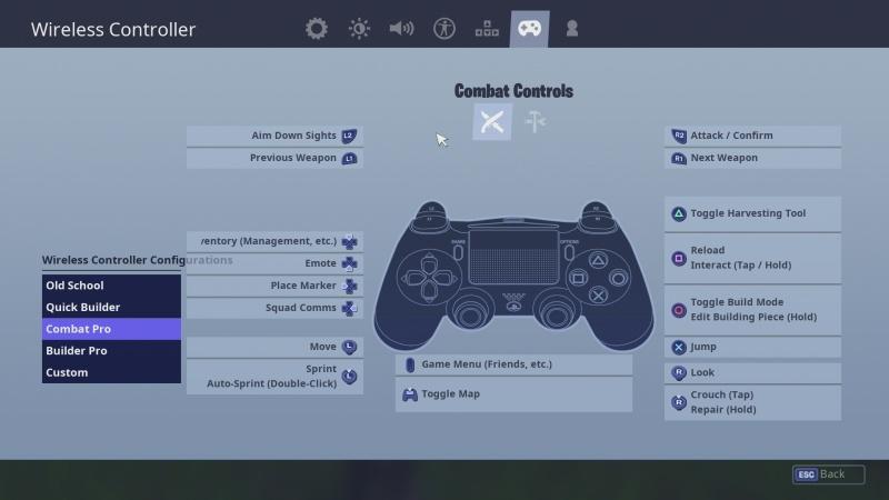 Fortnite - klávesnice + myš PS4 08