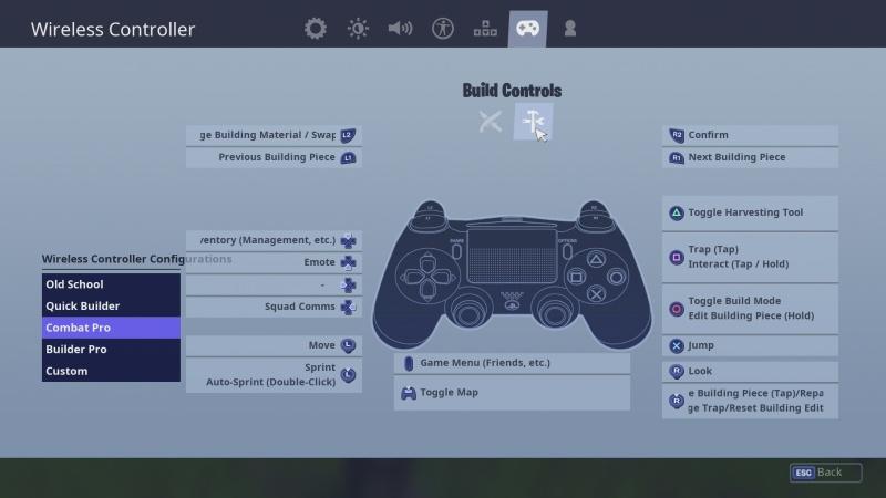 Fortnite – klávesnice + myš PS4 09