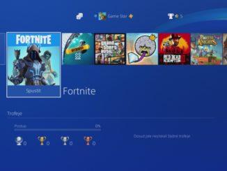 Rychlé přepínání aplikací na PS4