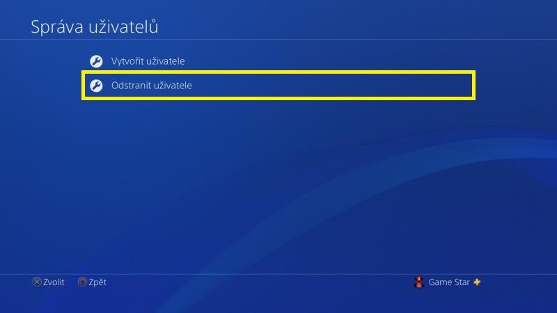 Jak odstranit uživatele PS4 - 3