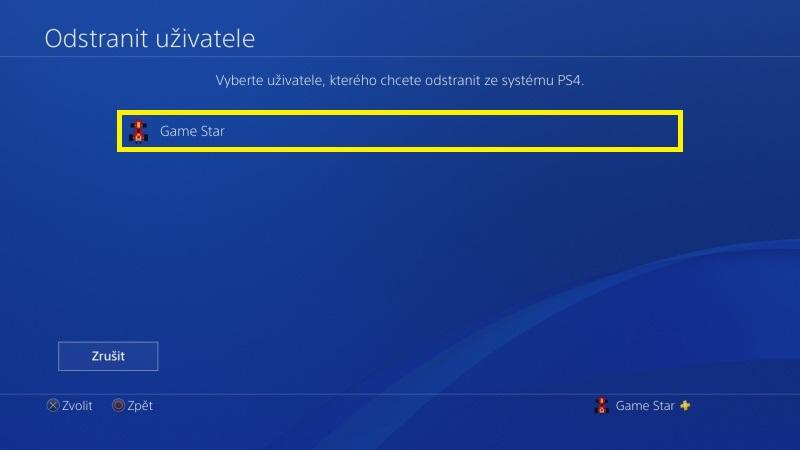 Jak odstranit uživatele PS4 - 4