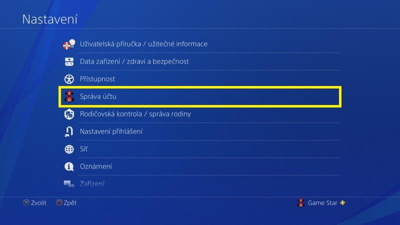 Jak změnit jméno na PS4 - 2