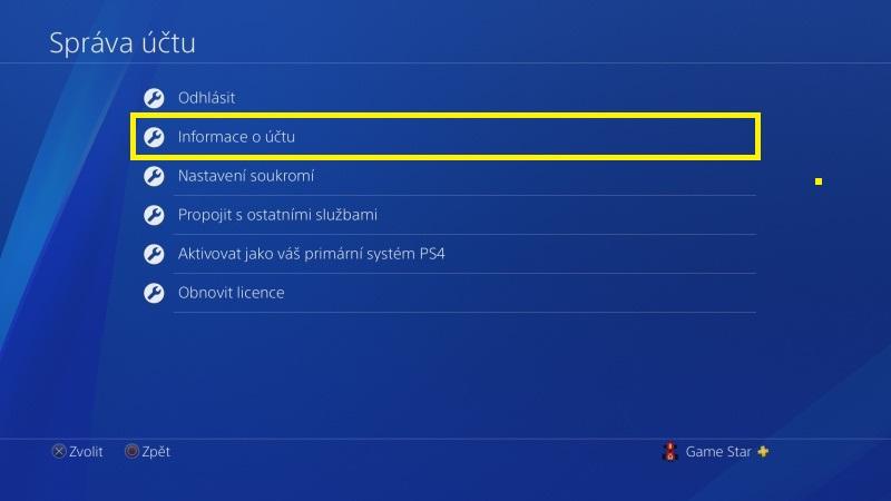 Jak změnit jméno na PS4 - 3