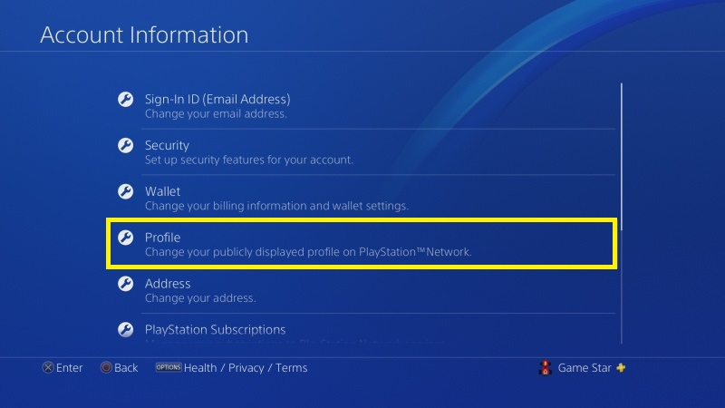 Jak změnit jméno na PS4 - 4