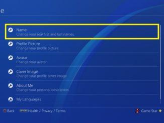 Jak změnit jméno na PS4 - 5