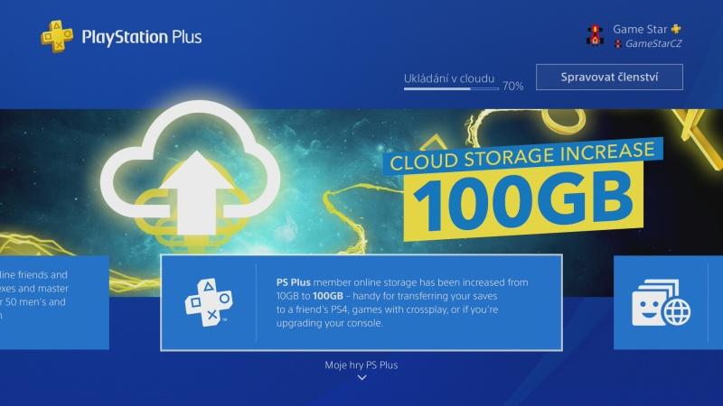 playstation plus 100gb cloud