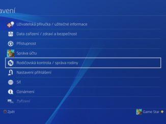 Rodičovská kontrola PS4 - 01