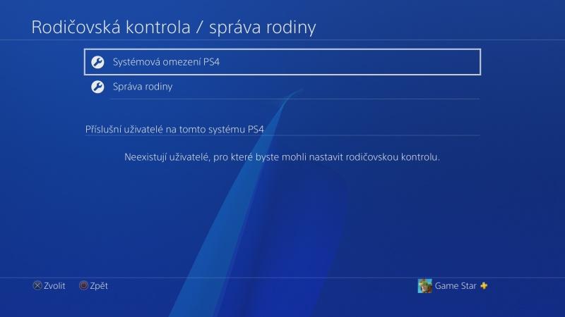 Rodičovská kontrola PS4 - 02