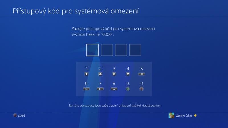 Rodičovská kontrola PS4 - 03