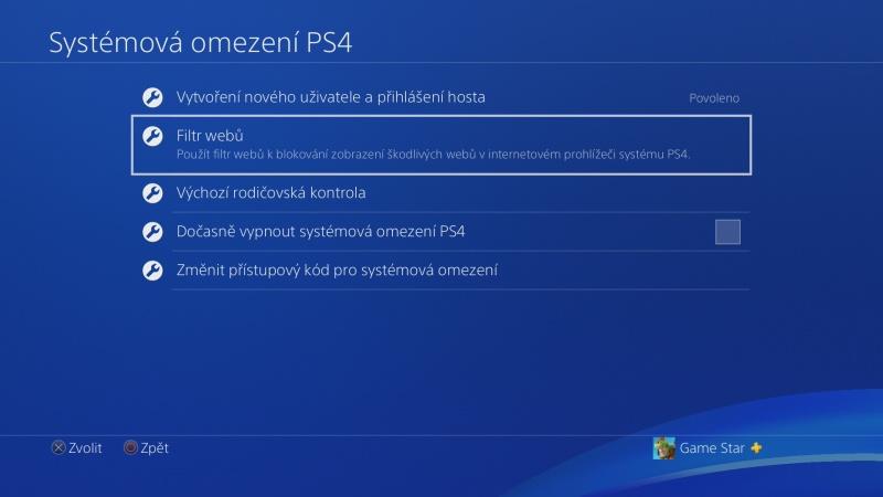 Rodičovská kontrola PS4 - 05