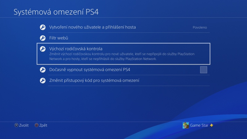 Rodičovská kontrola PS4 - 06