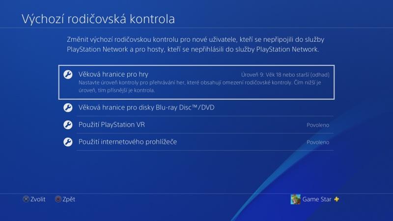 Rodičovská kontrola PS4 - 07