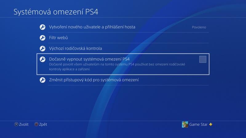 Rodičovská kontrola PS4 - 09