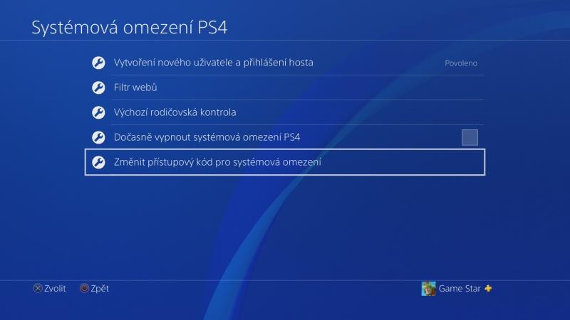Rodičovská kontrola PS4 - 10