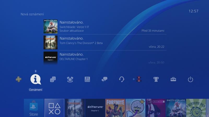 Jak vymazat zprávy - oznámení v Playstation 4 - 1