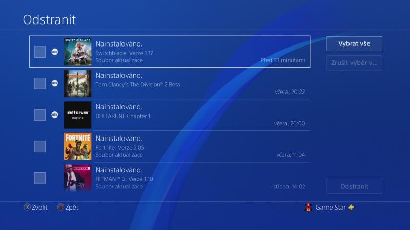 Jak vymazat zprávy - oznámení v Playstation 4 - 4