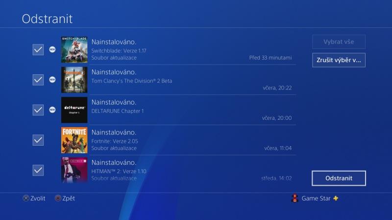 Jak vymazat zprávy - oznámení v Playstation 4 - 5