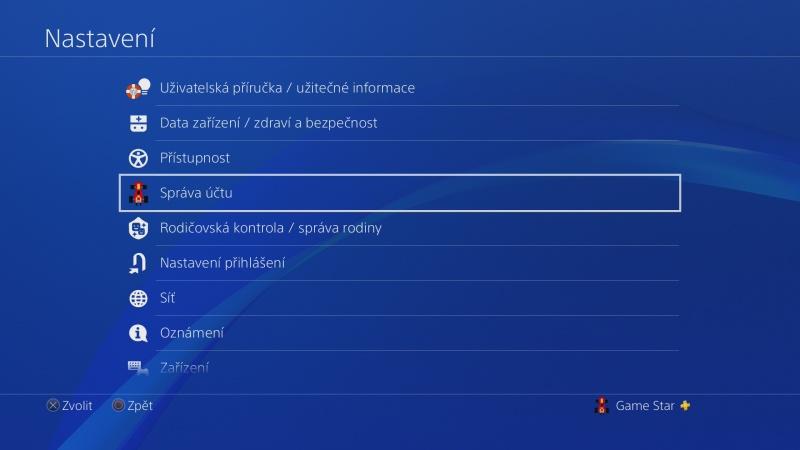 Jak změnit jméno účtu na PS4 - 1