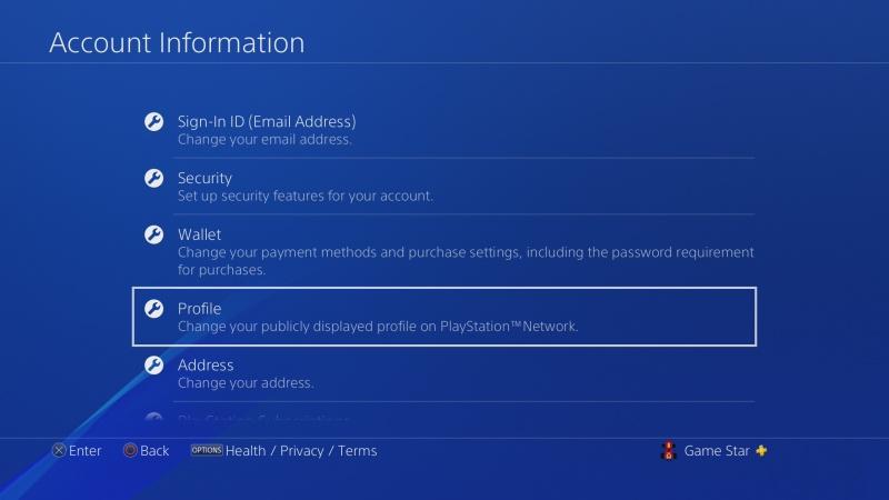 Jak změnit jméno účtu na PS4 - 3