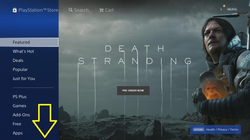 PS4 propojení platební karty