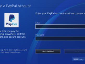 PS4 propojení s Paypal 2
