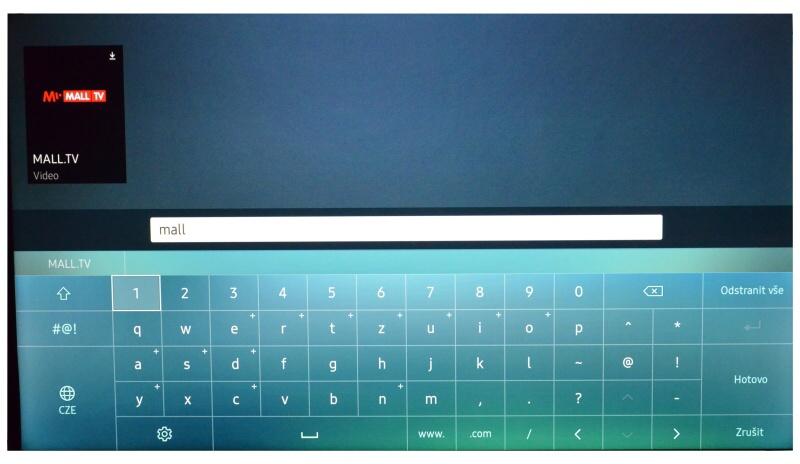 Mall.tv aplikace Samsung 3