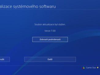 PS4 firmware update verze 7.0