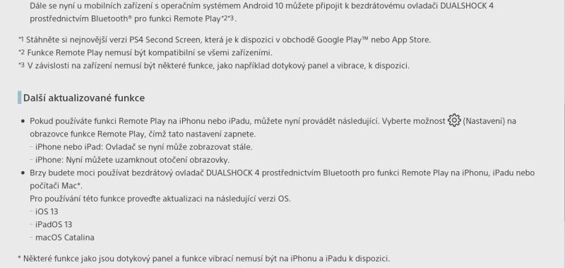 PS4 firmware update verze 7.0_3