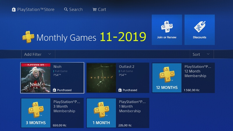 Ps Plus hry listopad 2019
