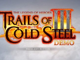 The Legend of Heroes: Trails of Cold Steel PS4 demo