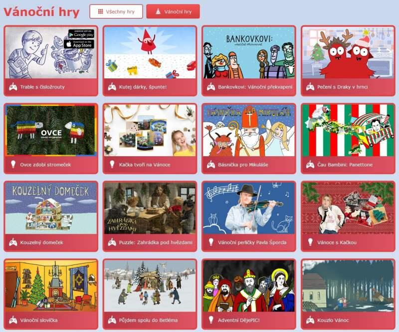 ČT Déčko Adventní kalendář 2019 - vánoční hry