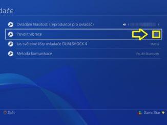 Jak vypnout vibrace na PS4 ovladači