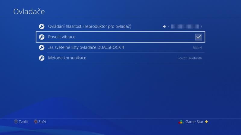 Jak vypnout vibrace na PS4 ovladači 4