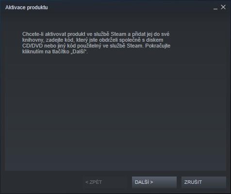 Steam aktivace hry 2