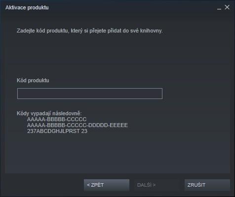 Steam aktivace hry 4