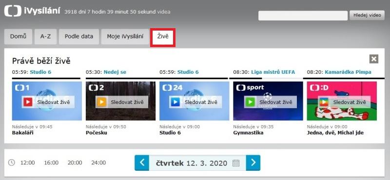 iVysílání ČT archiv 5