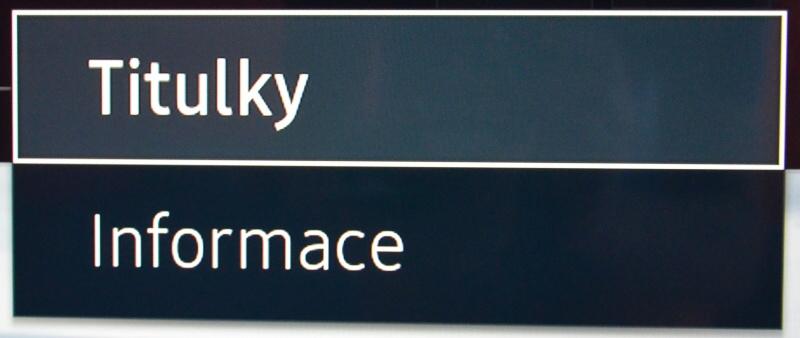 Titulky Samsung TV 3