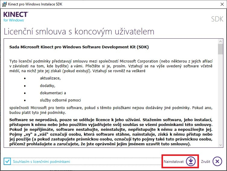 Kinect pro Windows SDK