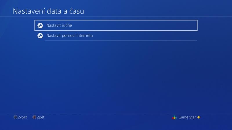 Nastavení data a času na PS4 - 2