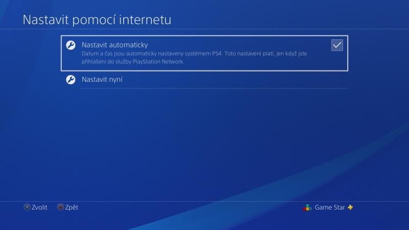 Nastavení data a času na PS4 - 3