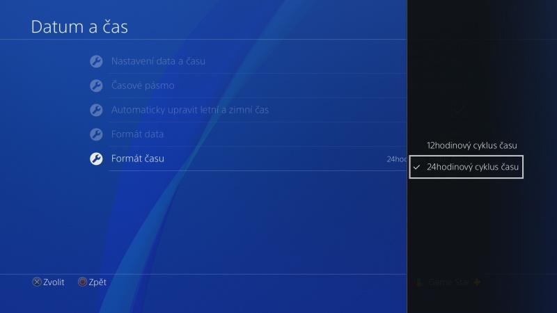 Nastavení data a času na PS4 - 7