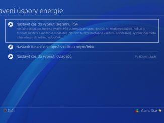 Nastavení úspory energie na PS4 - 2